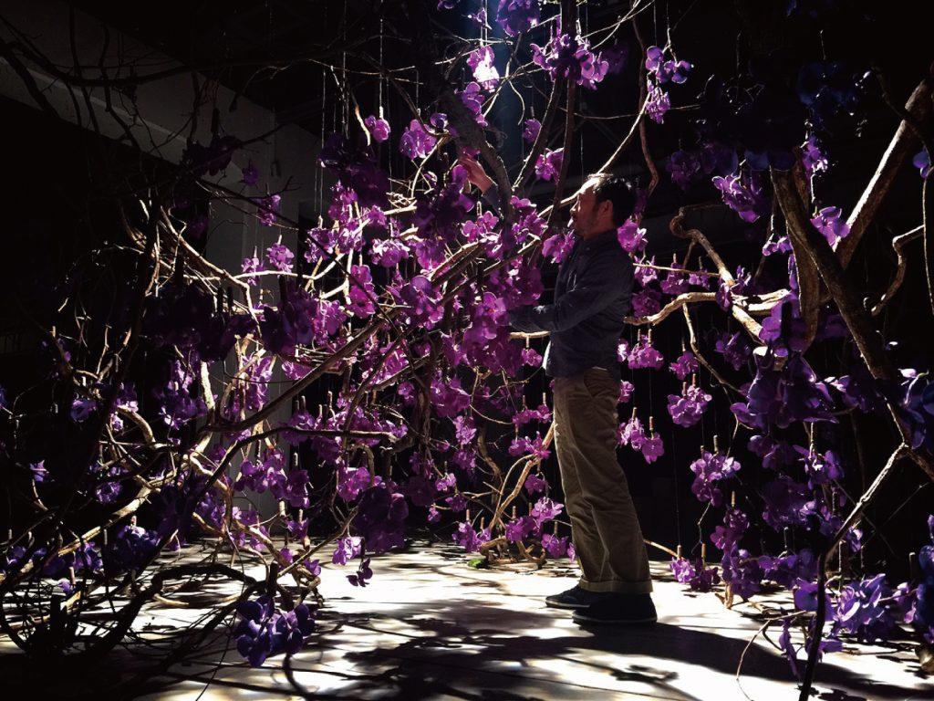 TED-x-Taipei-臺灣自然的符號《山中的精靈》花藝裝置