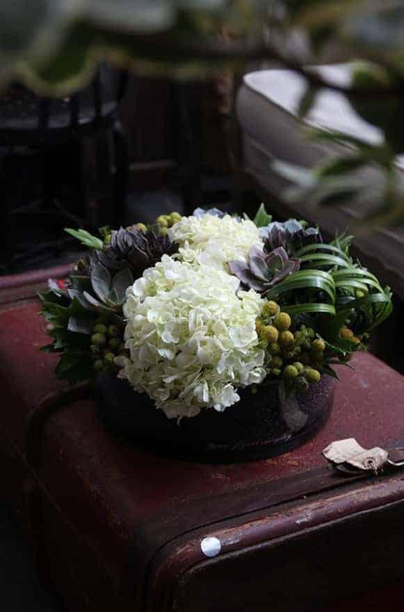 A02GLWG07白繡石蓮圓淺盤盆花5000-5