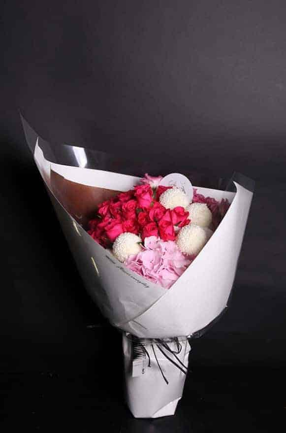 A04WPHH01綺麗桃紅花束3500-1