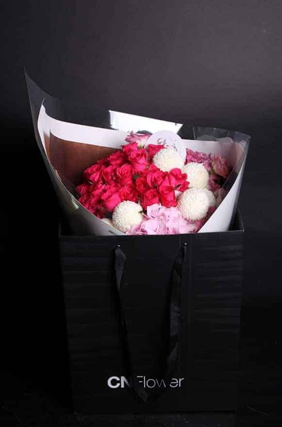 A04WPHH01綺麗桃紅花束3500-2