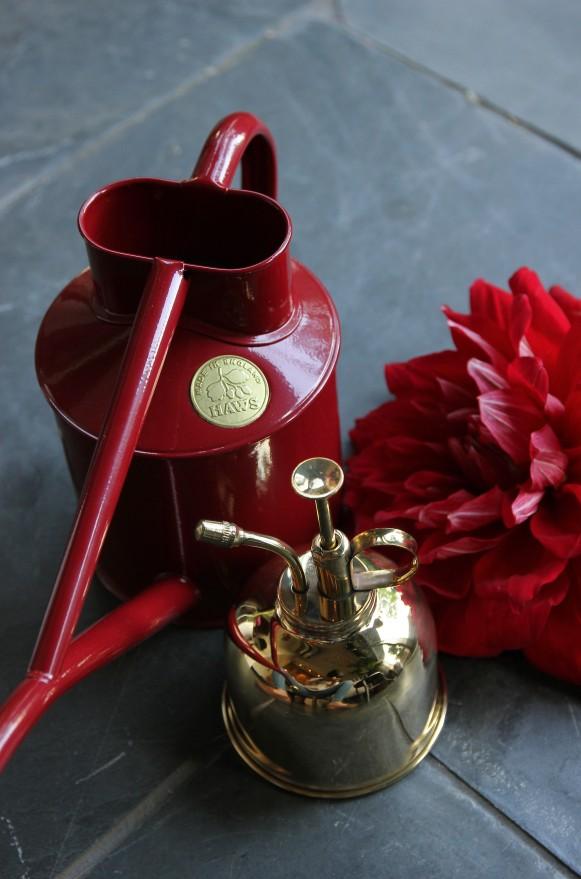 室內澆水壺1公升酒紅 (5)