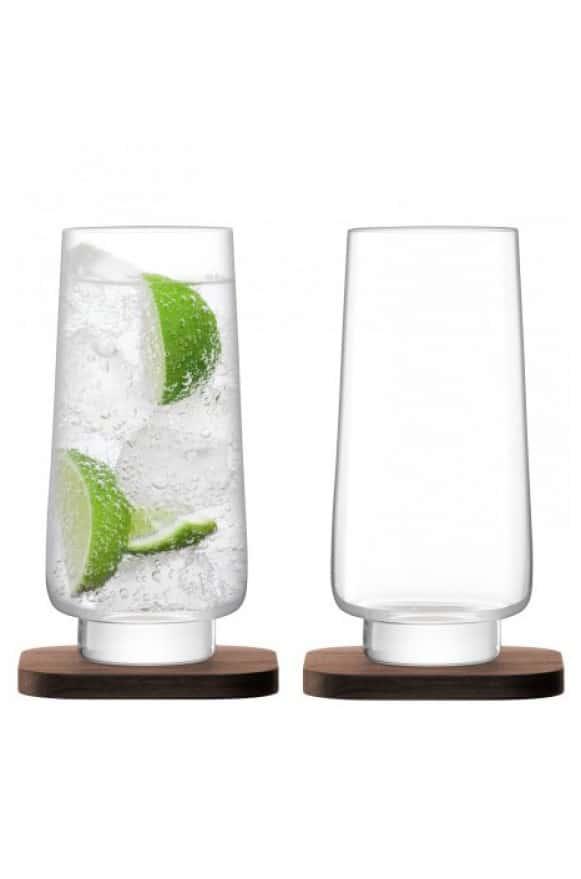 LSA-G123010301胡桃木盤酒杯組15cm-(3)
