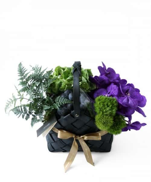 CN Flower西恩 中秋限定 豐饒秋實-紫玉 水果禮籃 售價NTD3,800元