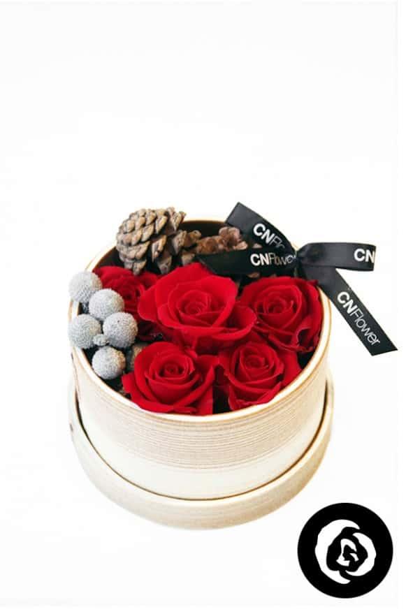 聖誕小紅莓-日式恆星木盒