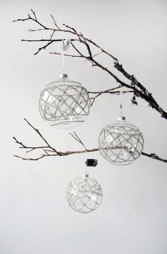 10A500009透明灰網狀球吊飾 (1)