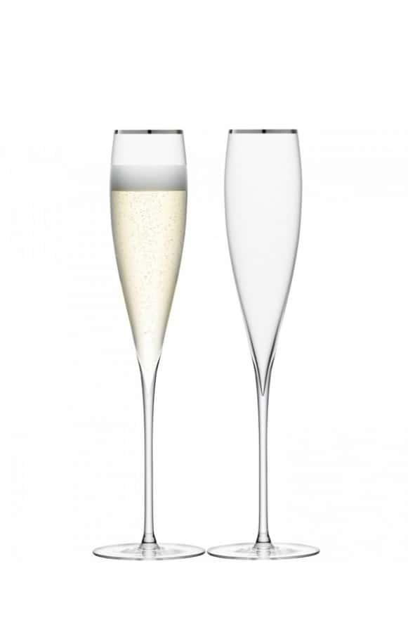 LSA-G24607381銀邊香檳杯2入-4
