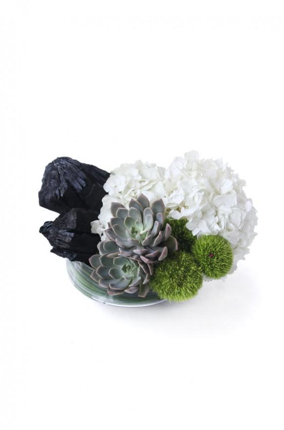 A02GLWG12白雪綠水 矮腳玻璃盆花2500 (2)