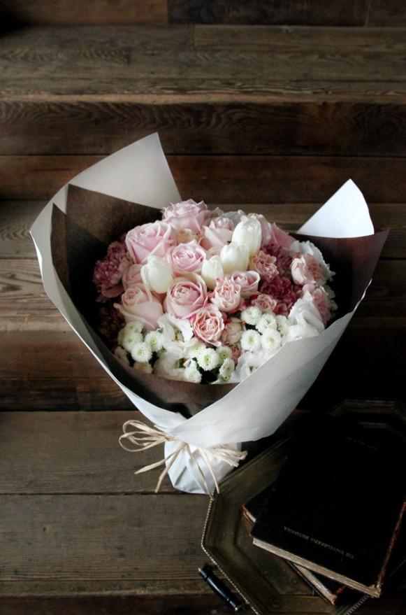 A04WPPP04淡粉甜玫 甜筒花束2880 (1)