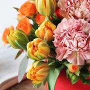 A10HW1802豐收派對 小紅圓鮮花禮盒2600 (1)
