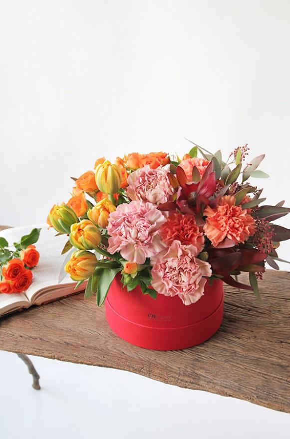 A10HW1802豐收派對 小紅圓鮮花禮盒2600 (3)