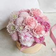 A10MD1901甜在馨 小粉圓鮮花禮盒 2800-4