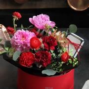 A10MD1915【CNFlower x 珠寶盒法式點心坊 】甜蜜生活- 牡丹款 蛋糕花禮 4500-10