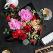 A10MD1915【CNFlower x 珠寶盒法式點心坊 】甜蜜生活- 牡丹款 蛋糕花禮 4500-6