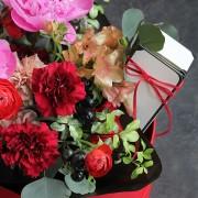 A10MD1915【CNFlower x 珠寶盒法式點心坊 】甜蜜生活- 牡丹款 蛋糕花禮 4500-7