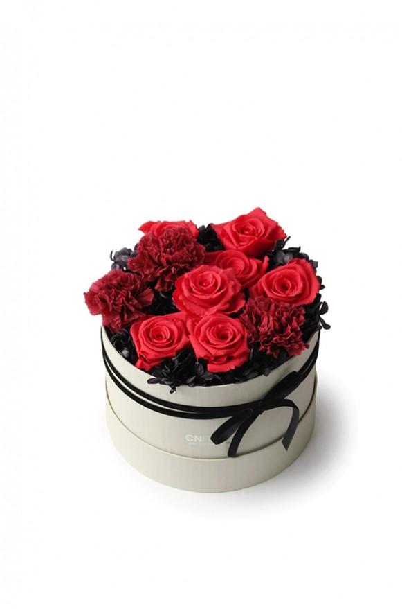 A12GLRR24馨心相印- 紅黑 恆星蛋糕禮物花4500-1