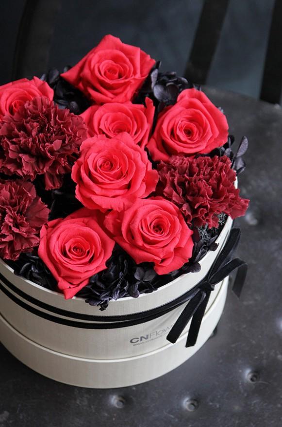 A12GLRR24馨心相印- 紅黑 恆星蛋糕禮物花4500-3