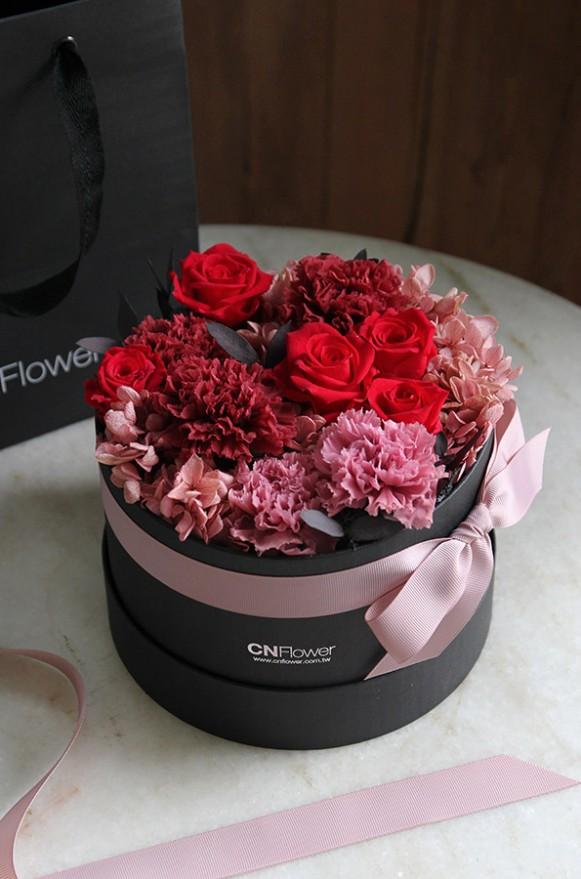 A12GLRR25馨心相印- 紅粉 恆星蛋糕禮物花4500-3