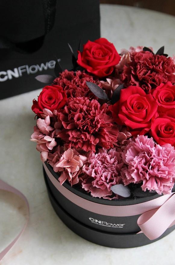 A12GLRR25馨心相印- 紅粉 恆星蛋糕禮物花4500-4