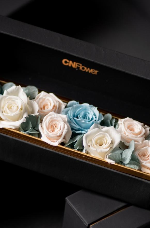 C0100190907四入黑金禮盒- 藍寶石 恆星花(1)-2