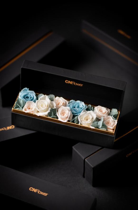 C0100190907四入黑金禮盒- 藍寶石 恆星花(1)
