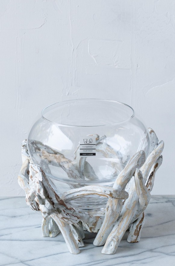 SCH-45369漂流木口吹玻璃花器(H20)_5800 切