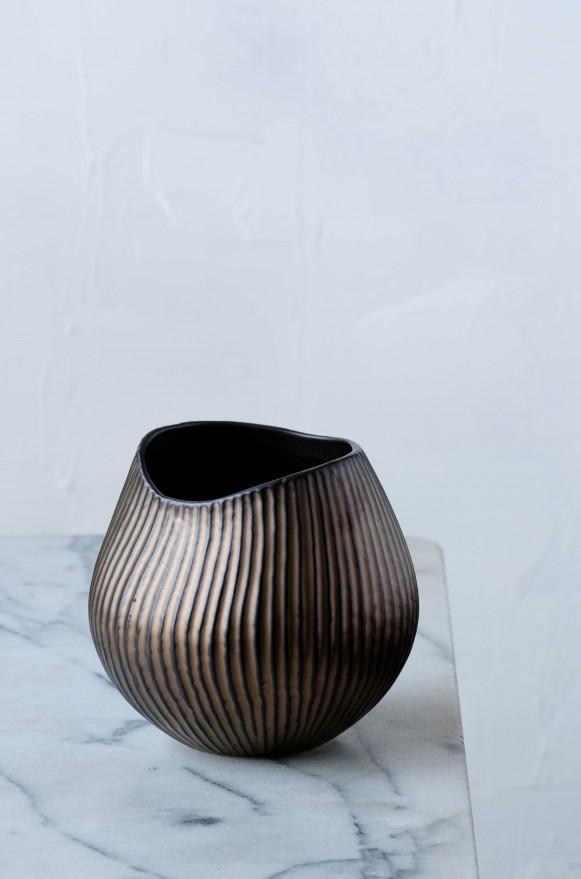 SCH-53236陶瓷花器(圓金屬色)_880