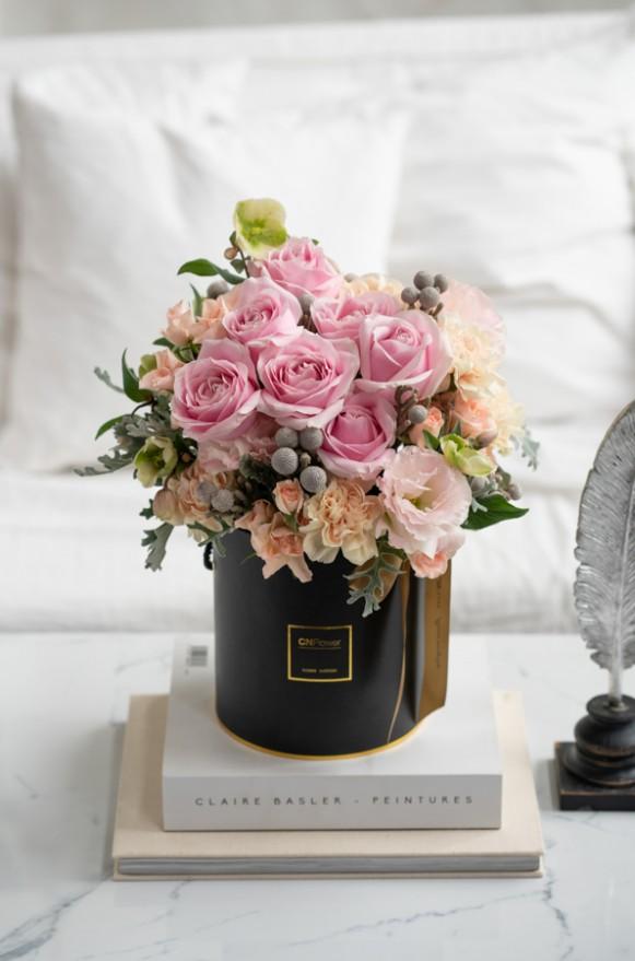 A0100200123-粉紅泡泡-鮮花禮盒-2500 (5)