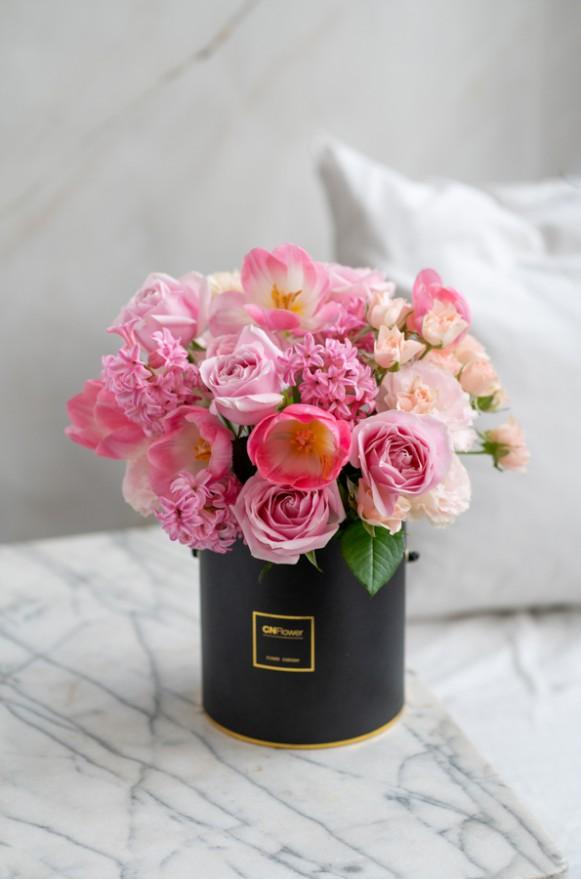 A0100200124-粉色夢境-鮮花禮盒-2500