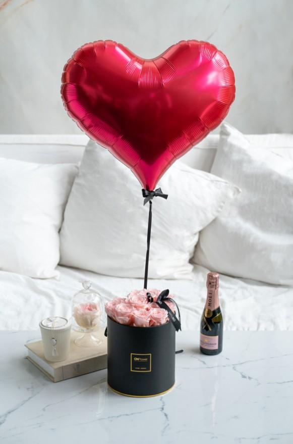 C0401200120-【O! Balloon聯名款】永恆摯愛-恆星氣球花禮(粉)-5180 (2)