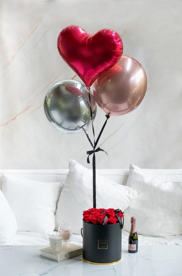 C0401200121-【O! Balloon聯名款】永恆摯愛-恆星氣球花禮(紅)-8460 (1)